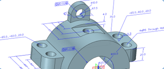 ZW3D developed PMI(Product Manufacturing Information) to get 3D annotations more easily.