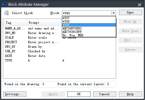 Block Attribute Manager