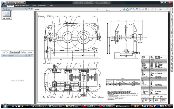 DWF AutoCAD Screenshot