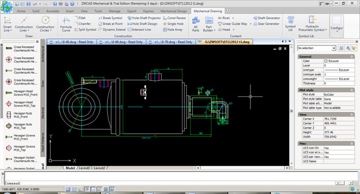 A sample project in ZWCAD Mechanical