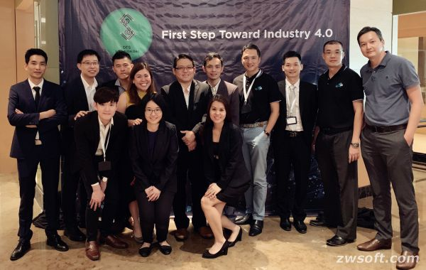 Members of ZWSOFT Malaysian Partner Dream Technology System and the ZWSOFT Team