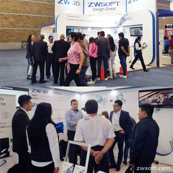 The ZWSOFT booth attracted many visitors