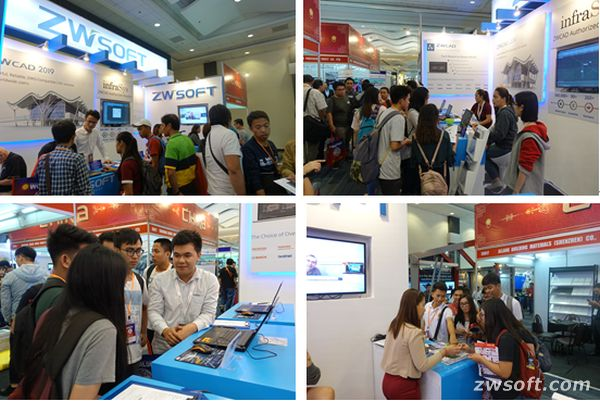 The ZWSOFT booth was warmly welcomed by visitors