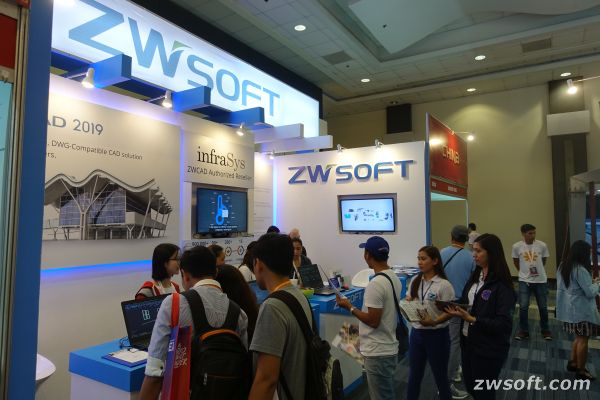 The ZWSOFT booth