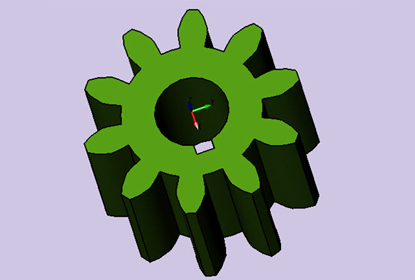 How to create a gear as part library with ZW3D