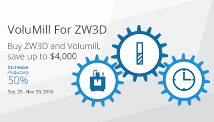 VoluMill Has been Completely Integrated into ZW3D CAD/CAM for Reducing Cycle Time by 70%
