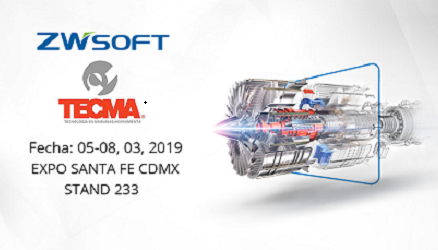 ZWSOFT will Make a Debut at TECMA 2019 in Mexico City
