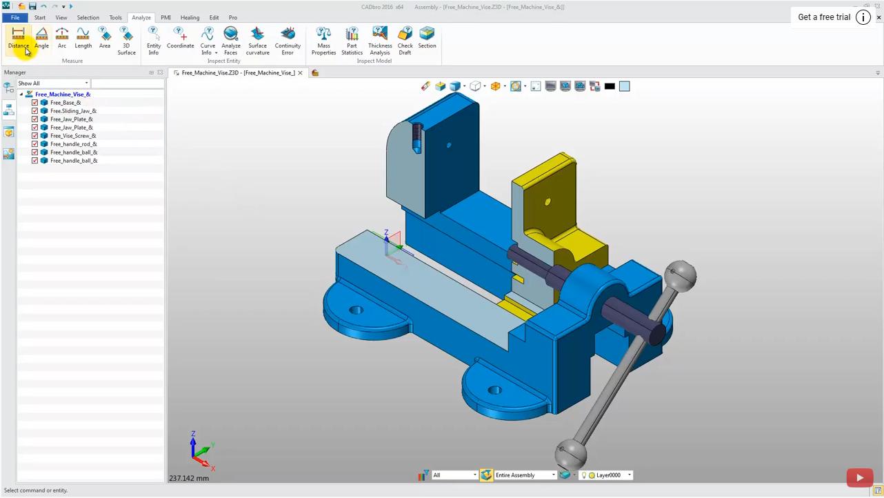 How to measure & analyze 3D model in CADbro