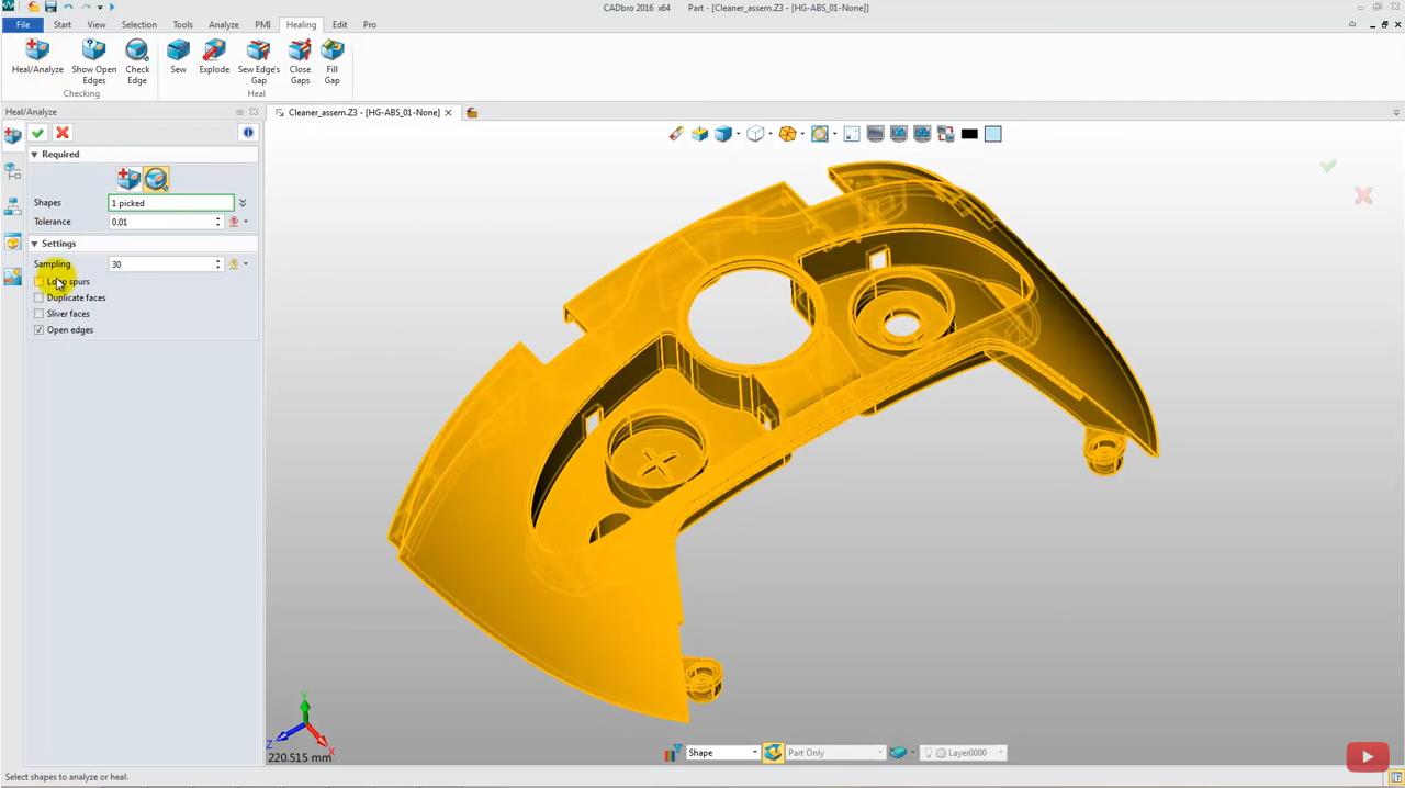 How to Heal & Edit 3D Model in CADbro