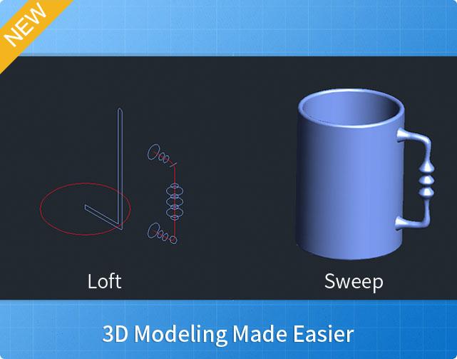 ZWCAD+ 2015 Mejora el Diseño 3D con las Funciones Nuevas