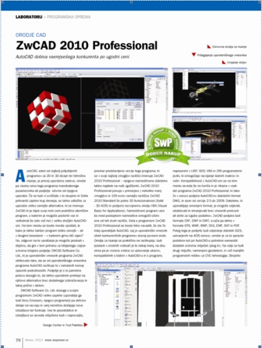ZWCAD 2010 Recognized by SwPower Magazine of Slovenia