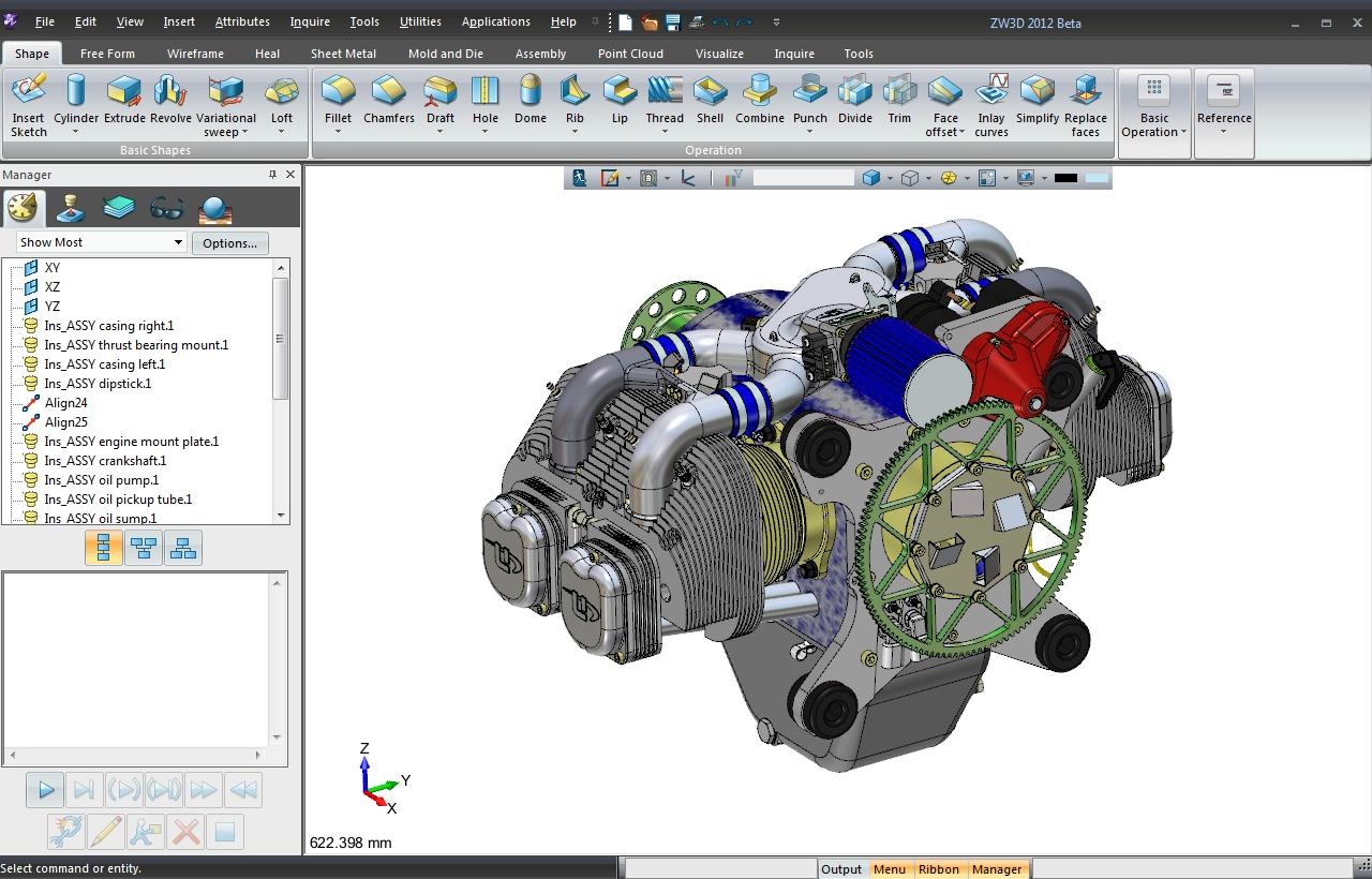 ZW3D CAD/CAM UI
