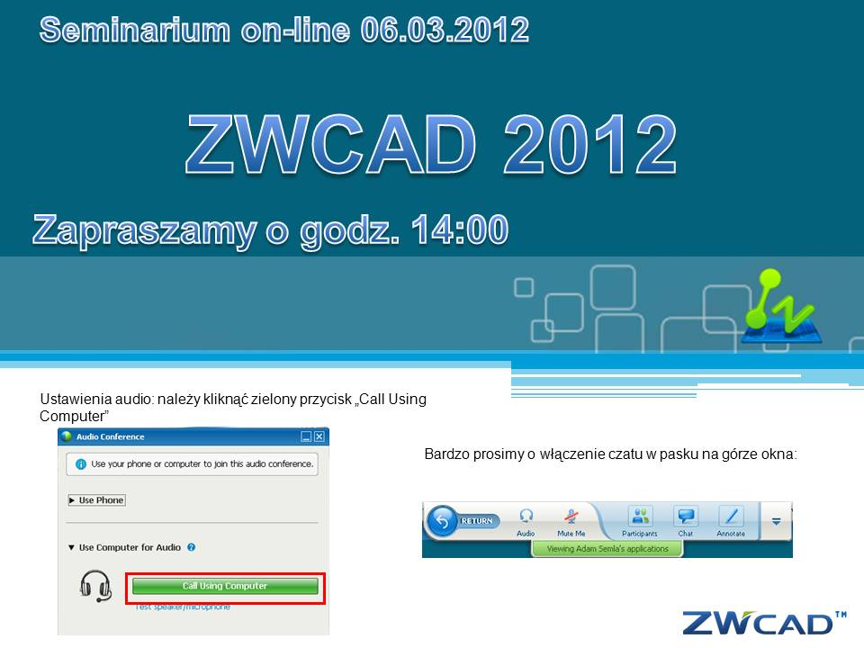 ZWCAD 2012 Webinars: All You Want and More
