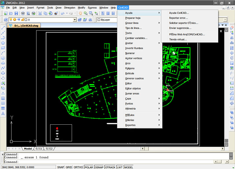 ZWCAD+ Bundled with CivilCAD