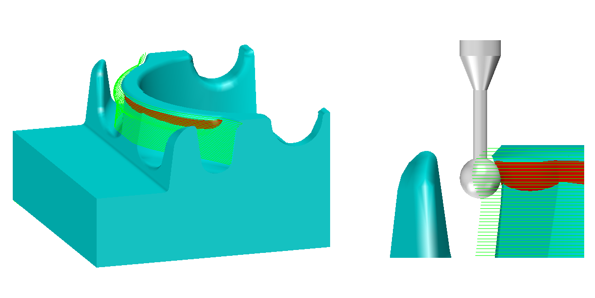 one example of an undercut toolpath