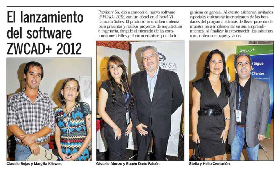 New Product Launch of ZWCAD+ 2012 in Paraguay