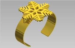 Snowflake Wristband