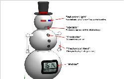 Robotic Snow Man Wekker