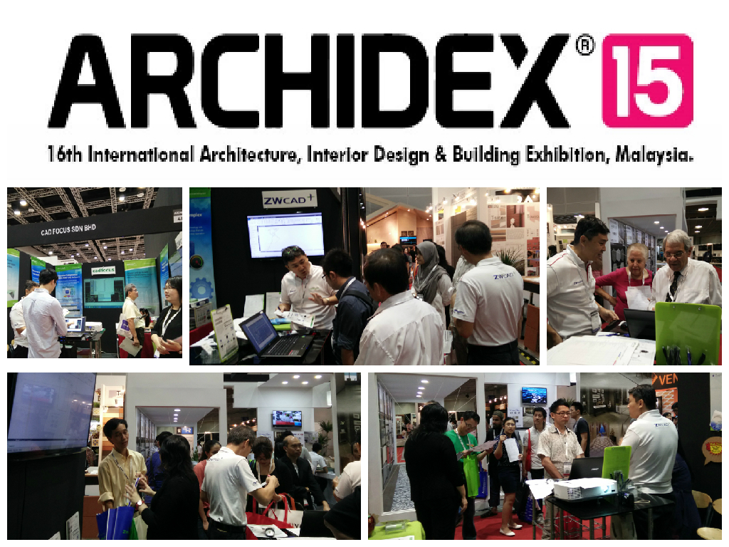 ZWCAD and CAD Pockets Presented at Archidex 2015 in Malaysia