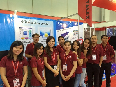 ZWCAD was Well Received at Matelex 2015 in Thailand