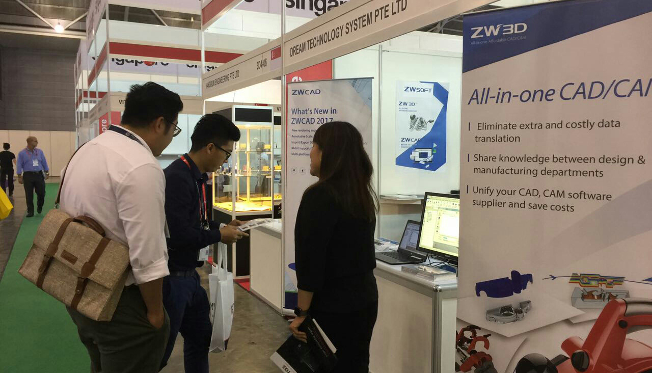 ZW3D Presented at MTA 2017, Singapore