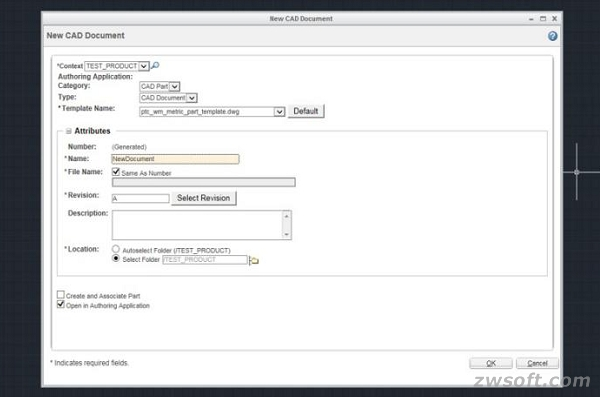 Open new .dwg file in WWGM Adaptor for ZWCAD