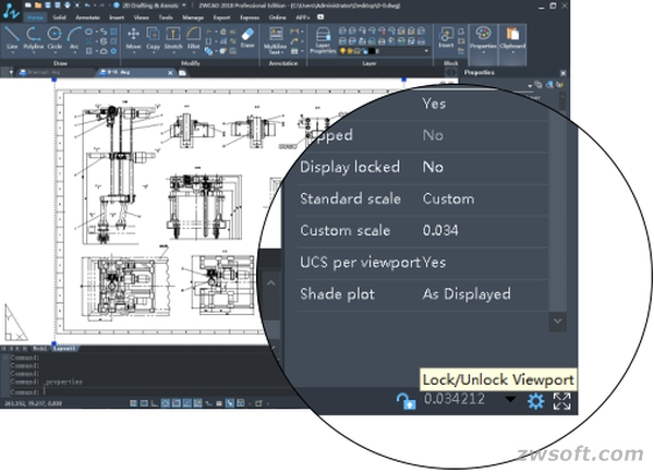 Unlock the viewport by clicking the LockUnlock Viewports Button