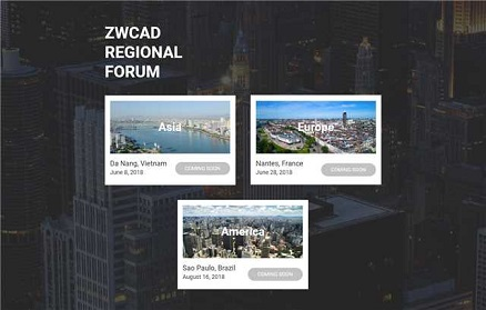 2018 ZWCAD Regional Forums are Coming