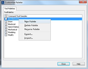 Import and export existing palettes